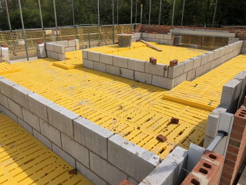 Safety decking for new builds in Stalmine, near Blackpool, Lancashire